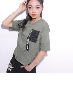 【ニコプチ掲載】天竺MA-1ポケット付きTシャツ