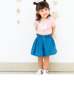 ベア天竺ハートプリントTシャツ(100~130cm)