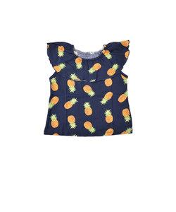天竺バナナ/パインプリントフリルTシャツ
