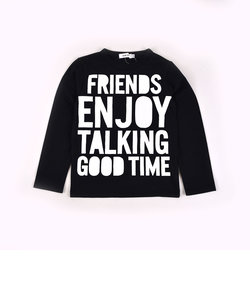 天竺ロゴプリントTシャツ