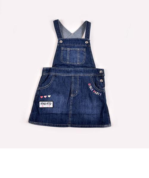 デニムポケット刺繍ジャンパースカート