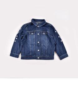 袖フラワー刺繍ジャケット