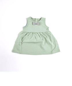 リボン シンプル 無地 ストレッチ ジャンパースカート ワンピース ベビー (70cm~90cm)