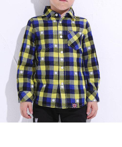 チェック&星リバーシブルシャツ(110cm~130cm)