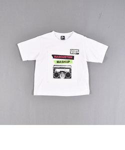 天竺パッチプリントTシャツ