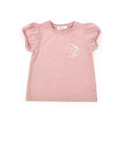 パフスリーブ ハート プリント Tシャツ (80cm~130cm)