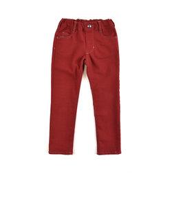 ポケット ワッペン 付 10分丈 カラー ツイル チノパンツ (110cm~130cm)