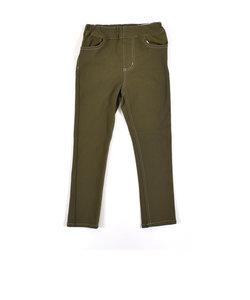 バックロゴ ポケット カラー ツイル パンツ (80cm~150cm)