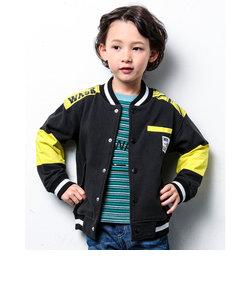 ハイショク キリカエ バック 肩 プリント スタジャン ジャケット  (140cm~160cm)
