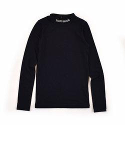 【ニコプチ掲載】ハイネック ロゴ 刺繍 Tシャツ(130cm~160cm)