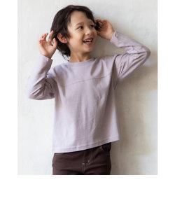 バックロゴ プリント 長袖 Tシャツ (80cm~130cm)