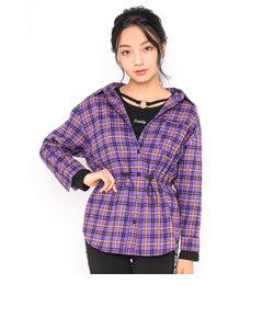 ウエスト絞り チェックシャツ + チャームTシャツ 2点セット(130~160cm)