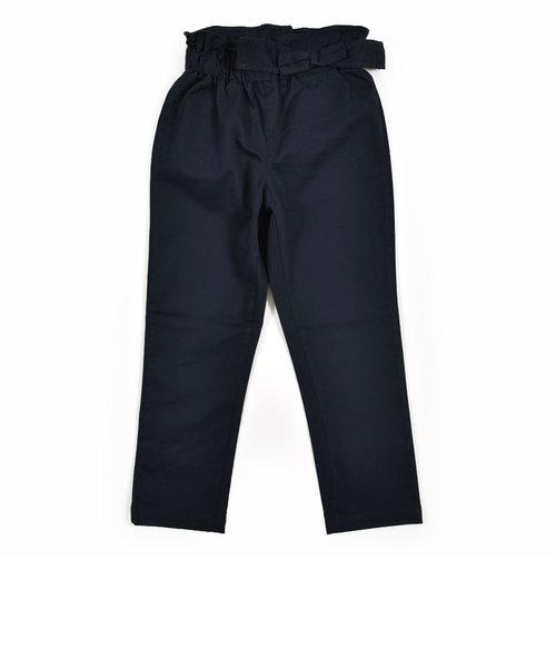ウエスト ゴム リボン ツイル パンツ (90cm~130cm)