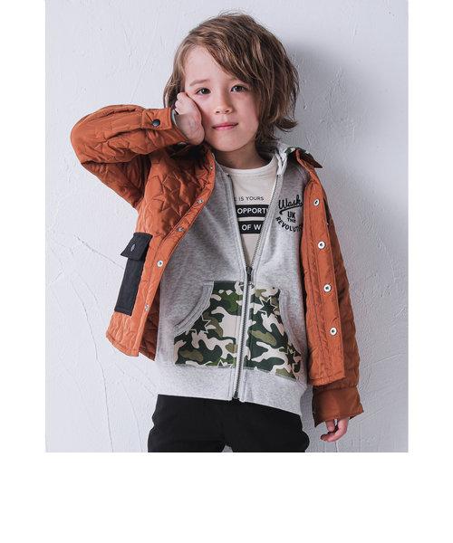 ポケット ハイショク 星 キルト シャツ 中綿 タフタ ジャケット (110cm~130cm)