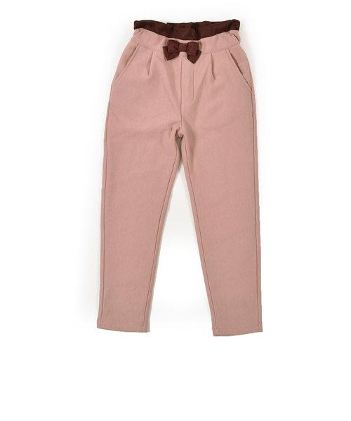 リボン付 イージー ウォーム ウエスト ゴム ポンチ パンツ (80cm~130cm)