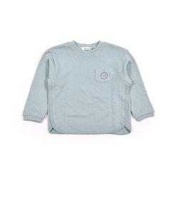 パイピング 胸ポケット ワンポイント 長袖 トレーナー (80cm~130cm)