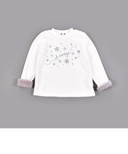 ブークレー フリース 雪 刺繍 長袖 トレーナー (90cm~140cm)