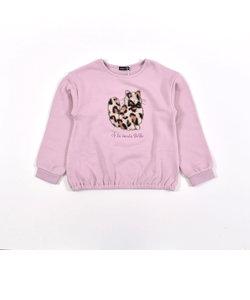 ベア ウラゲ ユキヒョウ  パッチ 刺繍 長袖 トレーナー (80cm~150cm)