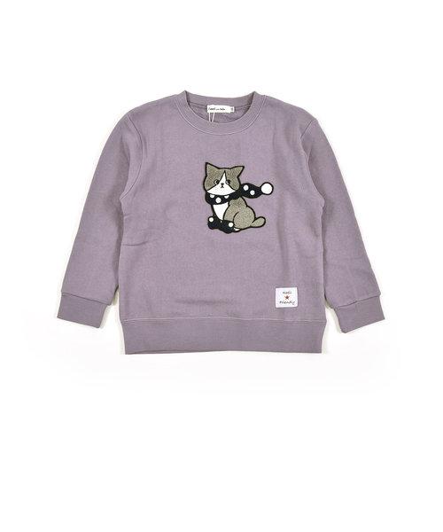 フレンチブルドッグ シロクマ ネコ サガラ刺繍 ワッペン トレーナー (80cm~130cm)