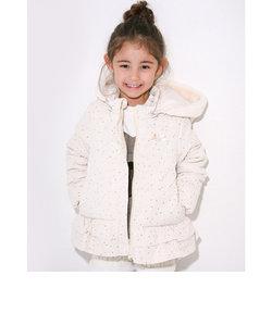 星柄 リボン 裾フリル フード 中綿 ジャケット (90cm~150cm)