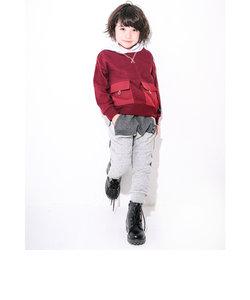 ポケット テーパード 中綿 キルト パンツ (80cm~130cm)