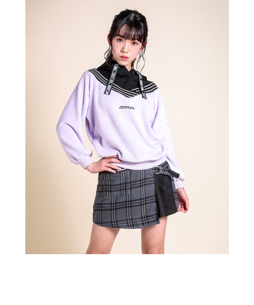 チェック サイドプリーツ スカートパンツ(130~160cm)