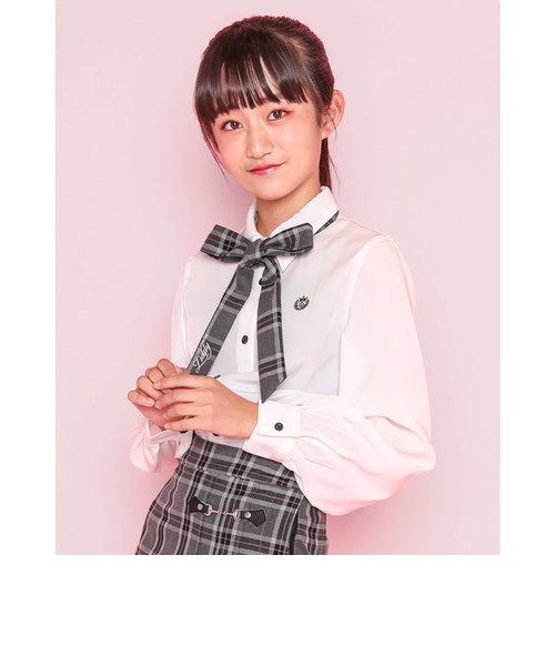 【ニコ☆プチ掲載】フォーマル リボン パフスリーブ シャツ(130~160cm)