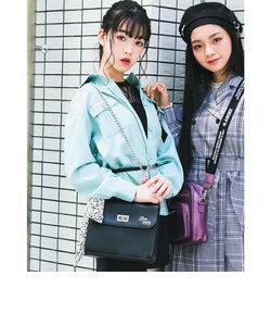【ニコ☆プチ掲載】スカーフ付き チェーン ショルダーバッグ