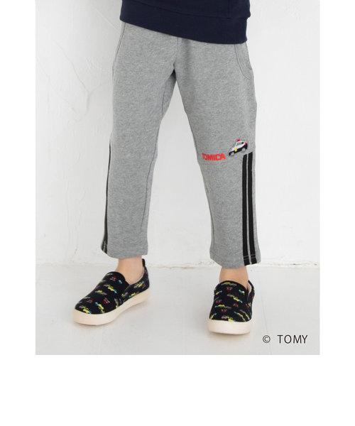 【トミカ×SLAP SLIPコラボアイテム】パトカー 消防車 刺繍 ワッペン付 ライン入り ジョガー パンツ (80~120cm)