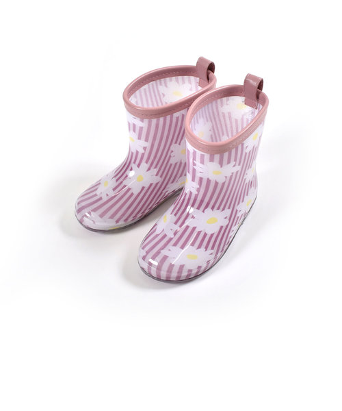 いちご サメ 恐竜 フラワー 花 プリント 長靴 レインブーツ(13~18cm)
