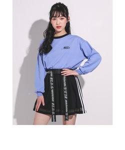 【店舗限定別注】メッシュ 切り替え バックロゴ スカートパンツ(130~160cm)