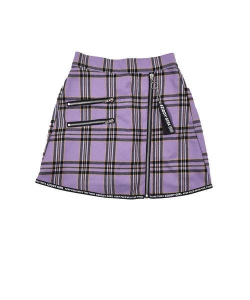 【店舗限定別注】チェック ジップ スカートパンツ(130~160cm)