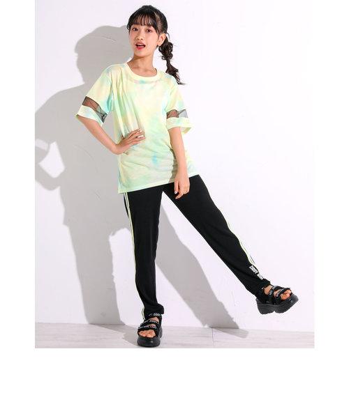 【一部店舗限定】タイダイ柄 Tシャツ ラインパンツ セットアップ(130~160cm)