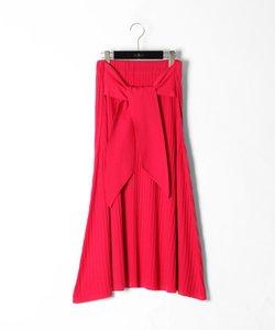 ベルト付ニットスカート