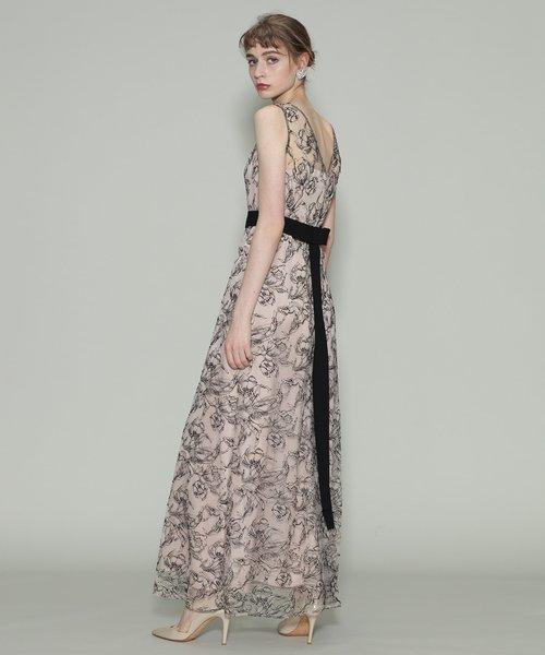 リバーレースロングドレス; リバーレースロングドレス