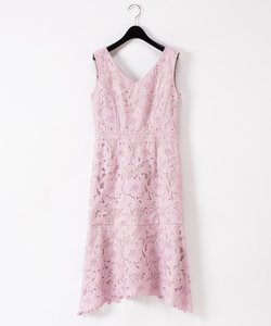 刺繍セミロングドレス