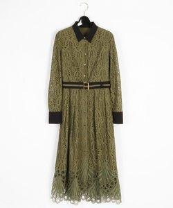 レース刺繍ドレス