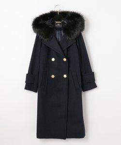 フードファー付ウールコート
