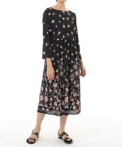 サラサフラワー刺繍ワンピース