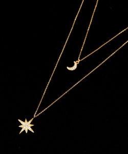 K14GF  3way 月小×星大ネックレス