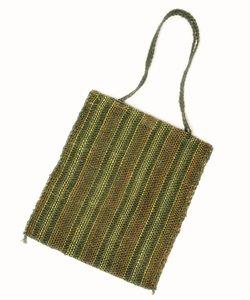 手織りフィケ素材トートバッグ
