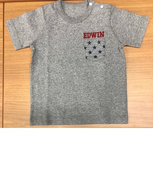 EDWIN ベビー プリントポケットTシャツ