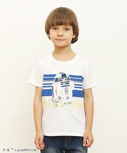 コラボレーションキッズTシャツ/R2D2(スターウォーズ)(ホワイト)