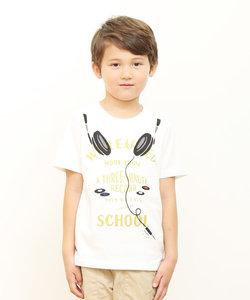 キッズTシャツ/ミュージックイズマイライフ(ホワイト)
