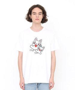コラボレーションTシャツ/ノンタンタータンあかんべ(ノンタン)(ホワイト)
