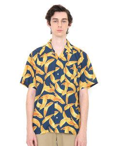 グラニフ シャツ 半袖 メンズ レディース マルチパターンオープンカラーショートスリーブシャツ(メニーバナナズ)