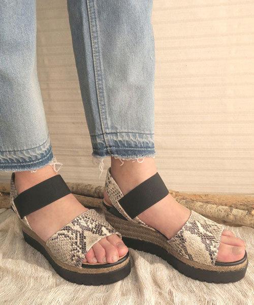【gaimo/ガイモ】エラスティックダブルソールサンダル[Esmeralda/エスメラルダ 靴]