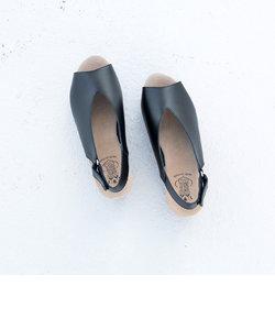 ★【BONTRE/ボントレ】ウッド調ウェッジソールサンダル[Esmeralda/エスメラルダ 靴]