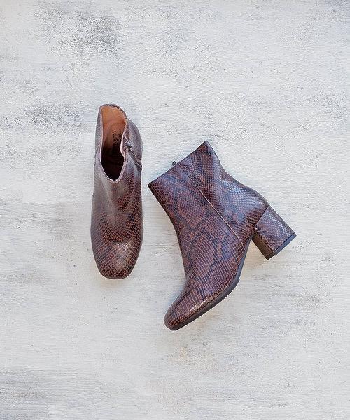 【BONTRE/ボントレ】スクエアトゥサイドジップブーツ[Esmeralda/エスメラルダ 靴]