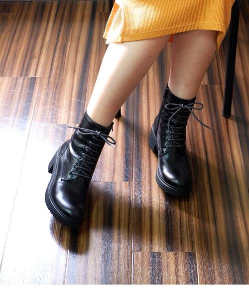 【BONTRE/ボントレ】レースアップショートブーツ[Esmeralda/エスメラルダ 靴]